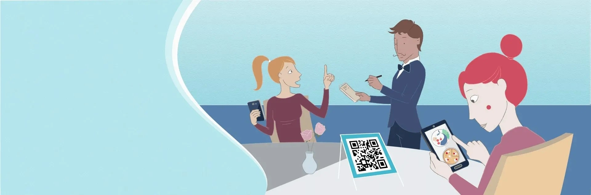 Dynamic QR code - Contactless Menu - The Messagenes Shop
