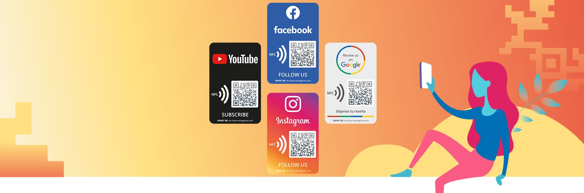 Social Media Stickers Section - The Messagenes Shop