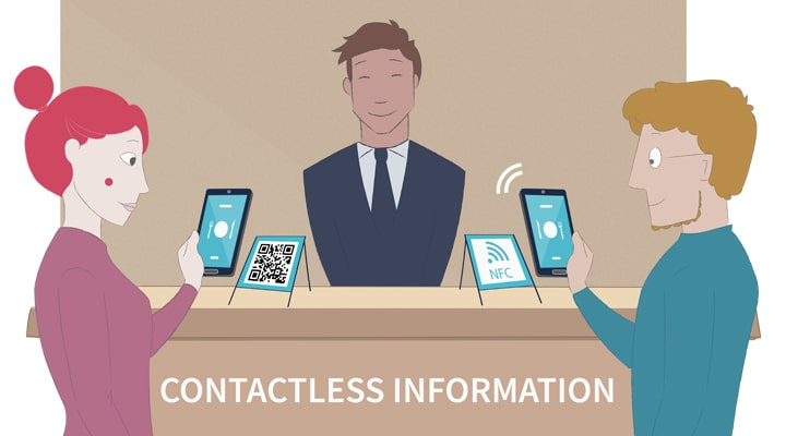 Contactless info